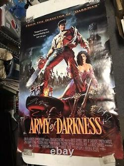 Evil Dead Army of Darkness Movie Poster 1992 Cast Autographed JW581