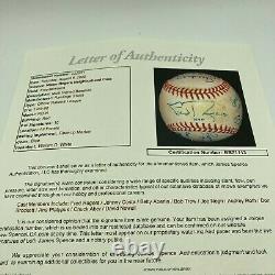 Extraordinary Fred Rogers & Mr. Rogers Neighborhood Cast Signed Baseball JSA COA