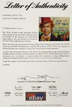 GENE WILDER + 5 Willy Wonka Kids Cast signed 8x10 #3 Photo (A) PSA/DNA LOA