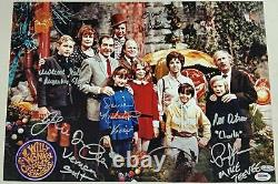 GENE WILDER + Willy Wonka Kids x6 Cast signed 12x18 Garden Photo PSA/DNA LOA