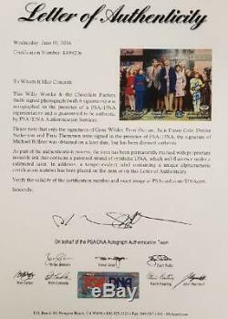 GENE WILDER + Willy Wonka Kids x6 Cast signed 8x10 Factory Photo PSA/DNA LOA COA