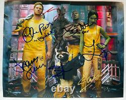 GUARDIANS OF THE GALAXY photo signed by cast Pratt Stan Lee Marvel auto withCOA