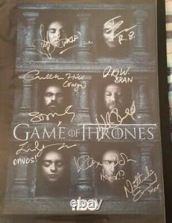 Game of Thrones 2016 CAST SIGNED 13x20 Poster x SDCC COMIC CON Sophie Turner++