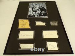 Gilligan's Island Cast Signed Framed 18x24 Photo Display JSA