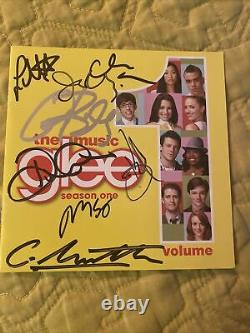Glee Cast SIGNED CD Insert (Cory Monteith, Lea Michele, and more)