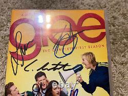 Glee cast signed DVD Lea Michele Cory Monteith Dianna Agron Jenna Ushkowitz