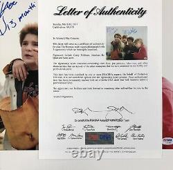 Goonies cast signed 11x14 photo PSA COA LOA Sean Astin, Ke Quan, Corey Feldman