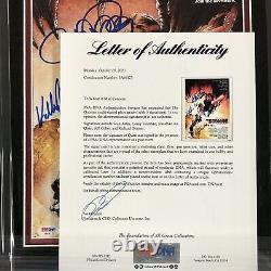 Goonies cast signed framed 11x14 photo PSA COA Cohen Astin Feldman Quan Donner