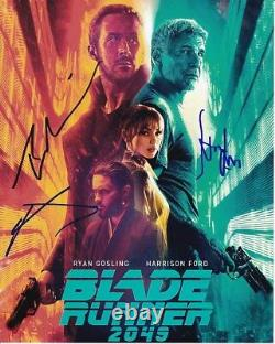 HARRISON FORD RYAN GOSLING & JARED LETO signed autograph BLADE RUNNER 2049 photo