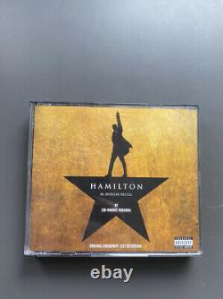 Hamilton Broadway CD Signed Complete Cast Lin Manuel Miranda, Jonathan Groff