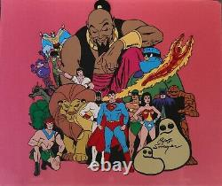 Hanna Barbera 1973 Superheroes Publicity Cel-Signed by Bob Singer