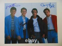 Happy Days Cast Signed 11X14 Color Photo Autograph World COA