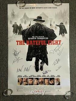 Hateful Eight JSA Cast Autograph Signed Original Movie Poster DS Double Sided