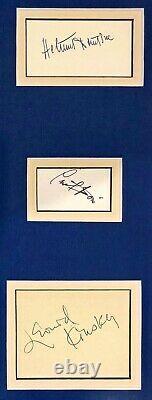 Humphrey Bogart Monumental Autographed Signed Casablanca Credited Cast Framed