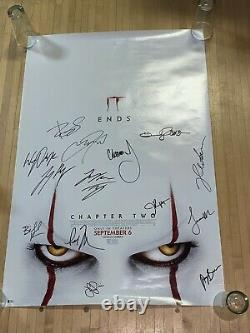 IT Chapter 2 cast signed 27x40 Original DS Original poster BAS Beckett LOA