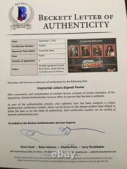 Impractical Jokers Full Group Cast Signed 5 Foot Subway Poster Beckett Loa Coa