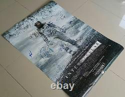 Interstellar Ds Movie Poster Cast Signed Premierautographs. Real