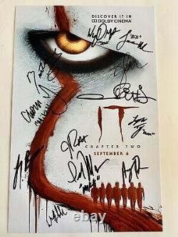 It Chapter Two 2 Autographed 11x17 Poster Cast Piece Signed By 12 Muschietti