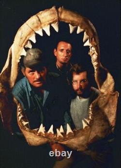 JAWS 1975 original HUGE Les Dents De La Mer poster cast signed x9 Lee Fierro
