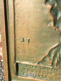 James Earle Fraser Cast Bronze Plaque Bas Relief Sculpture Of Teddy Roosevelt
