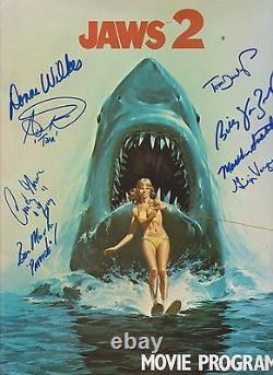 Jaws 2 cast of 9 Original Autographed Movie Program