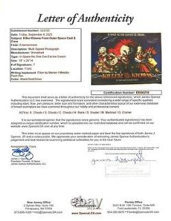 Killer Klowns from Outer Space Signed 18x24 Print Chiodo Bros +Cast JSA Full LOA
