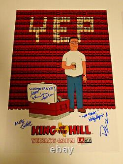 King Of The Hill Cast Signed X4 Autographed 12x18 Photo Poster Mike Judge Adlon