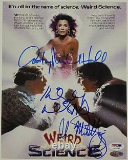 LEBROCKAnthony Michael HallILAN Weird Science cast signed 8x10 Photo PSA COA