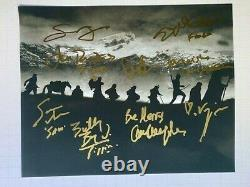 LORD OF THE RINGS photo cast signed by the entire Fellowship Wood Astin auto COA