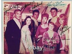LOST IN SPACE FULL CAST SIGNED TV PHOTO SIGNED BY ALL 7 GUY WILLIAMS with COA RARE