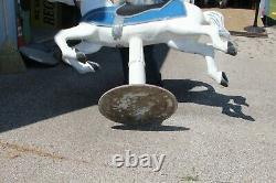 Large 59 Vintage Coca Cola Sign Base 1 Piece Cast Aluminum Carousel Horse