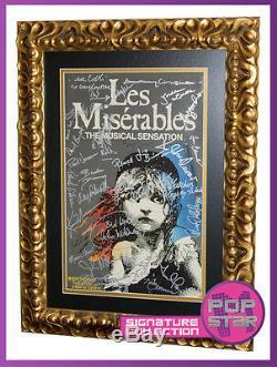 Les Miserables Original Broadway Cast SIGNED and Framed 14x22 Window Card COA