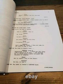 Lord of the Rings LOTR Fellowship MOVIE SCRIPT CAST SIGNEDx14 withCOA Autographed