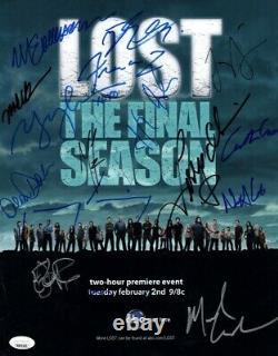 Lost Cast Signed Autographed 11X14 Photo Final Season 16 Sigs Fox JSA BB59299