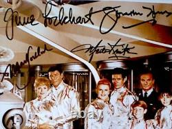 Lost In Space Hand Signed Cast Photo Autograph x6 Members Color 8x10 COA Rare