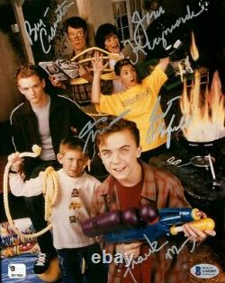 Malcolm in the Middle Cast Signed Autographed 8X10 Photo Muniz Cranston BAS LOA