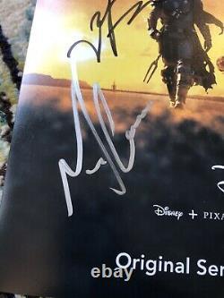 Mandalorian Cast SIGNED 12x18 Poster Gina Carano star wars jon favreau autograph