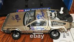 Michael J Fox Christopher Lloyd Wilson Thompson CAST signed DeLorean Beckett