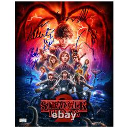 Millie Bobby Brown & Stranger Things Cast Autographed 11x14 Photo 6 Signatures