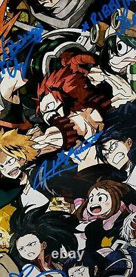 My Hero Academia Cast x 10 signed 12x18 Poster Deku Bakugo All Might Endeavor