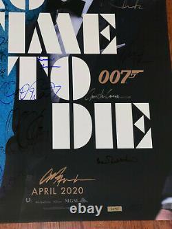 No Time To Die Movie Poster CAST SIGNED Premiere Daniel Craig James Bond 007 COA