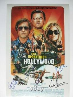 ONCE UPON A TIME IN HOLLYWOOD CAST SIGNED 12x18 PHOTO LEONARDO DICAPRIO DC/COA