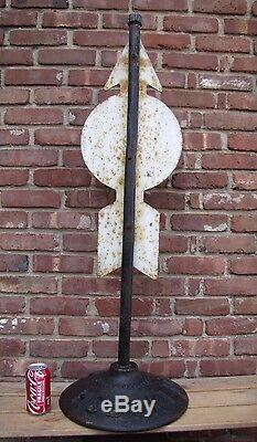 Old HOBOKEN PD Street Sign No Parking During Church Service cast iron base NJ NY