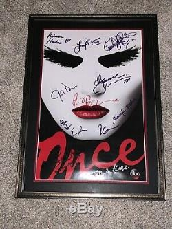 Once Upon A Time Cast Signed Poster Comic Con 2015 CUSTOM FRAMING
