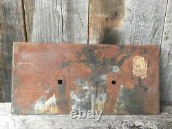 Original Antique Plaque Sign Wendnagel Chicago Water Tower Cast Iron Metal Sign