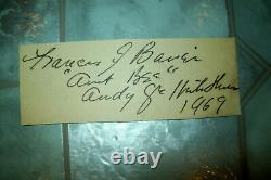 Original Hand-Signed Autographs of the Cast of The Andy Griffith Show