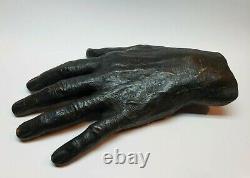 Original Life Bronze Casting Of The Hand Of Rafael Tufiño / Signed / Puerto Rico