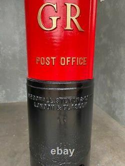 Original Reclaimed Red Cast Iron George 5th Pillar Box Sign UKAA Post Box