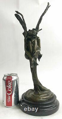 Original Sign Fantasy Fairy Bronze Sculpture Figurine Art Figure Statue Hot Cast