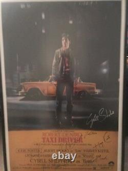 Original Taxi Driver Movie Poster Signed By Cast